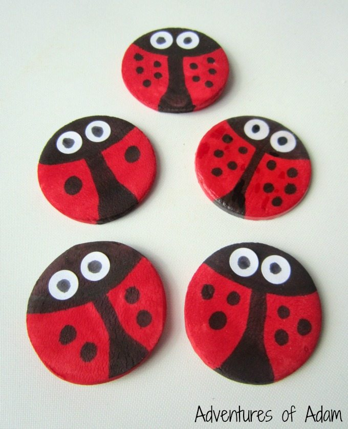 DIY Clay Ladybirds