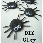 DIY Clay Spiders