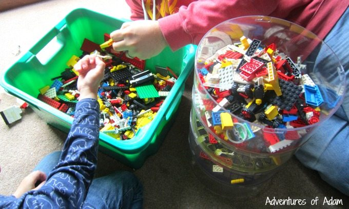 Filling the BlokPod with Lego
