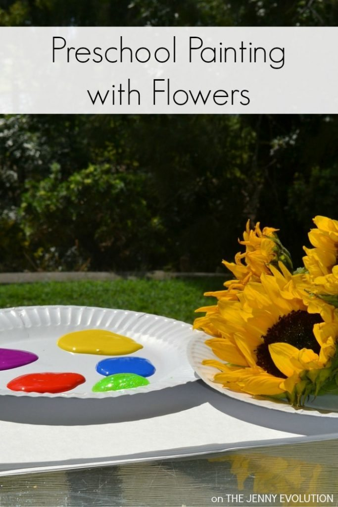 Painting-with-a-Twist-Preschool-Painting-with-Flowers