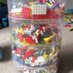 Sorted Lego into sizes