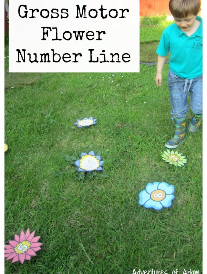 Gross Motor Flower Number Line