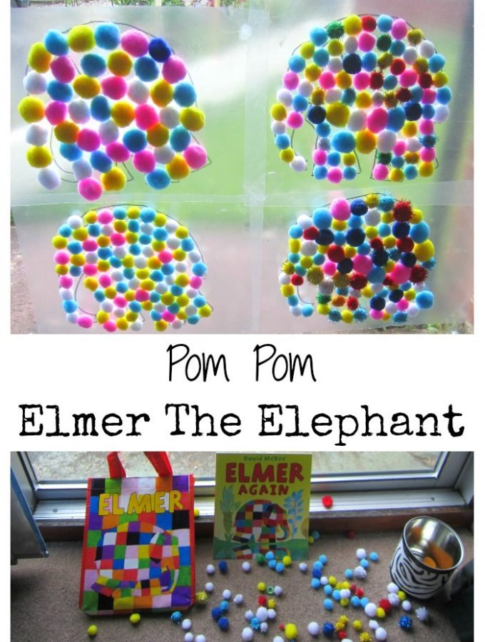 Pom Pom Elmer The Elephant