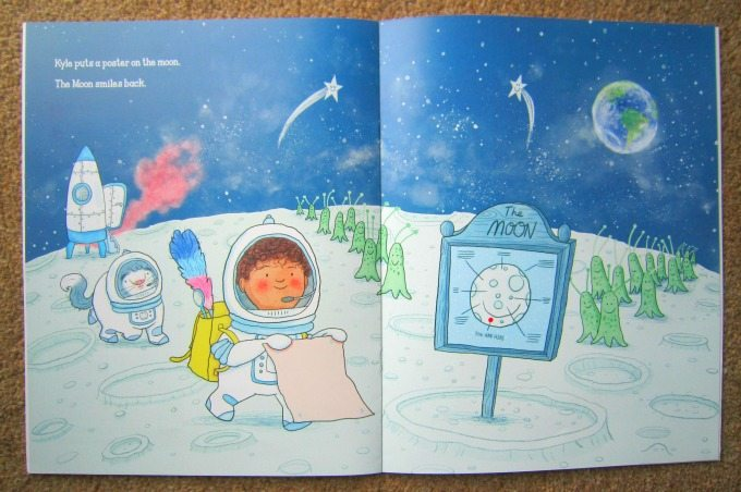 Traveling to the moon in The Lost Smile