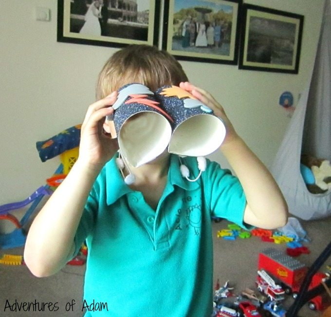 Using weather binoculars