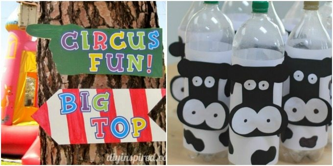 Circus and farm party theme
