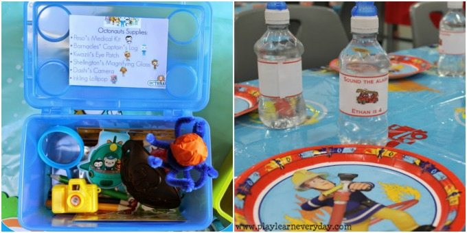 Octonauts and Fireman Sam party theme