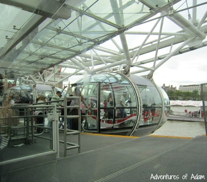 Boarding the London Eye