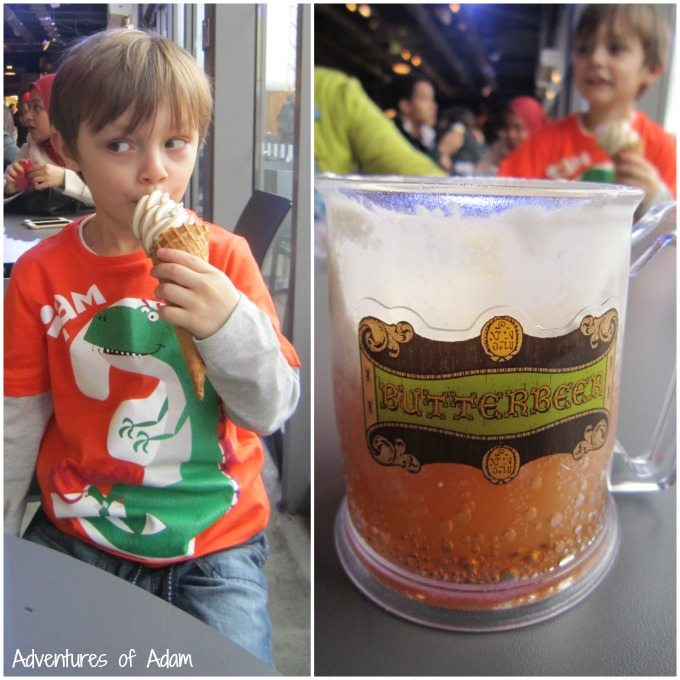 Butterbeer and butterbeer icecream