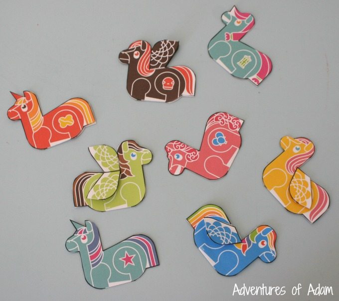 Folding Enkl Little Pony printable