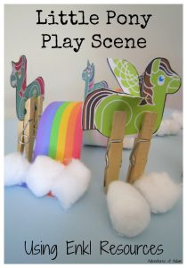 Little Pony Play Scene Using Enkl Resources