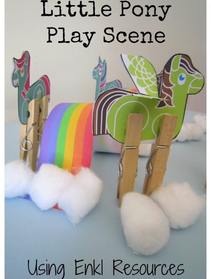 Little Pony Play Scene Using Enkl