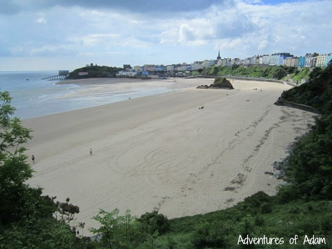Tenby beach whilst on holiday at Bluestone