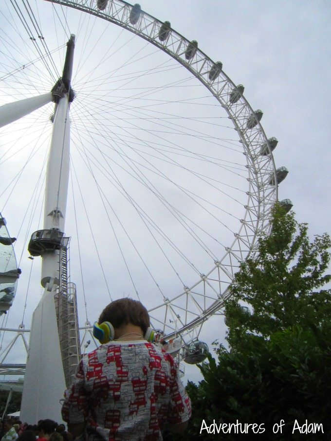 Waiting at the London Eye