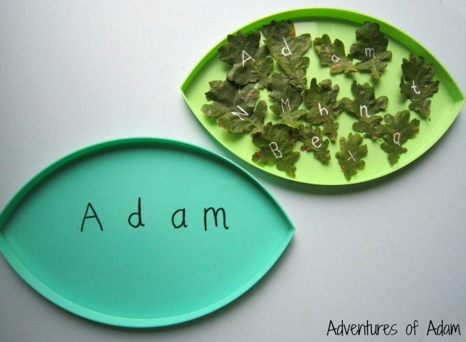 create your name in leaves