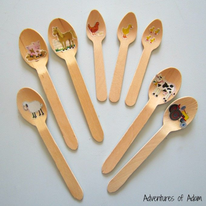 Easy to make Old MacDonald rhyme sticks