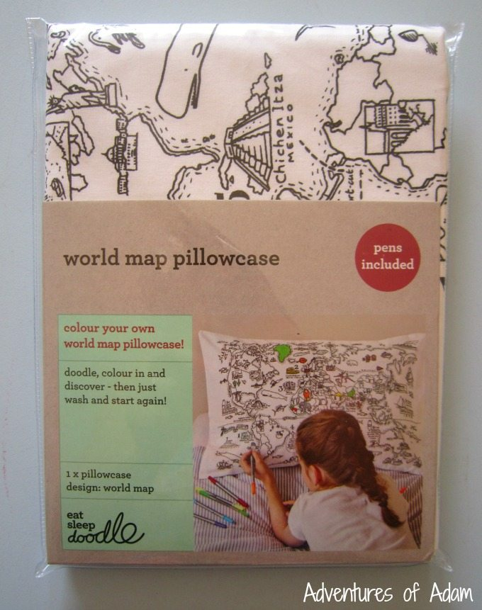EatSleepDoodle World Map pillowcase