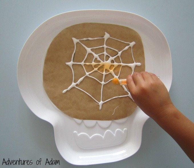 Glitter Halloween craft