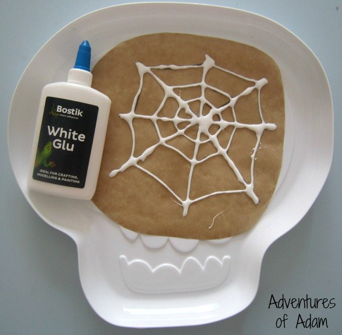 Glue spider web