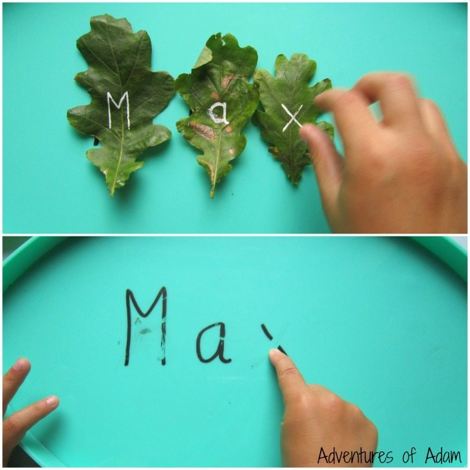 Name writing play activity