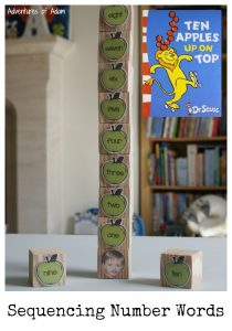 Ten Apples On Top Sequencing Number Words