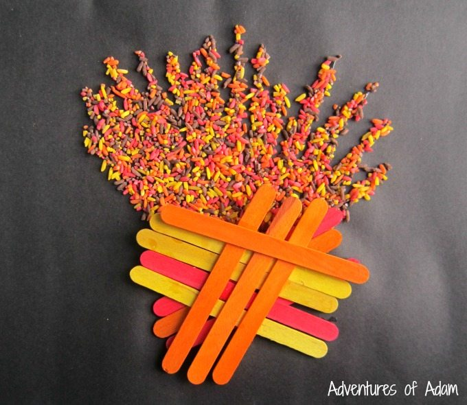 Easy Bonfire Night craft