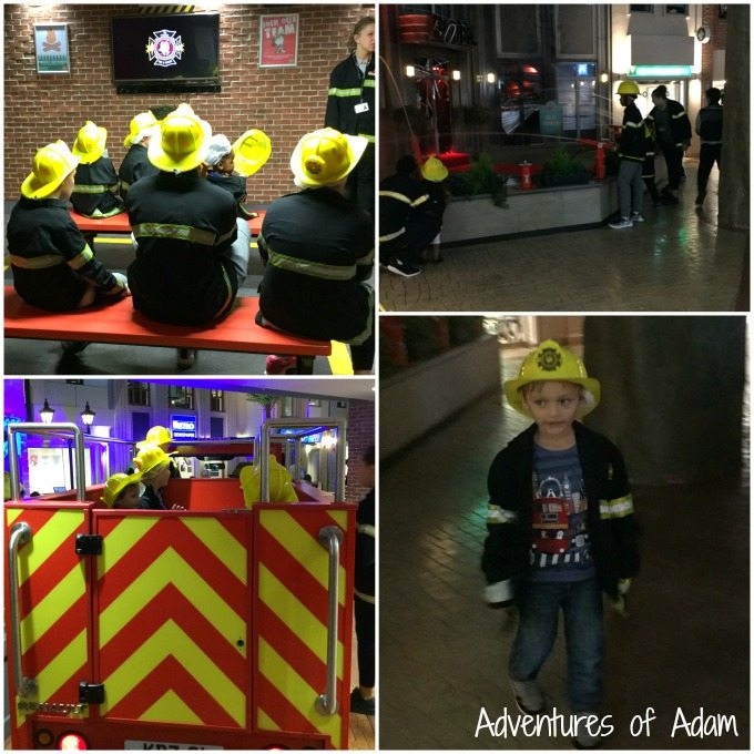 Fire fighter at KidZania
