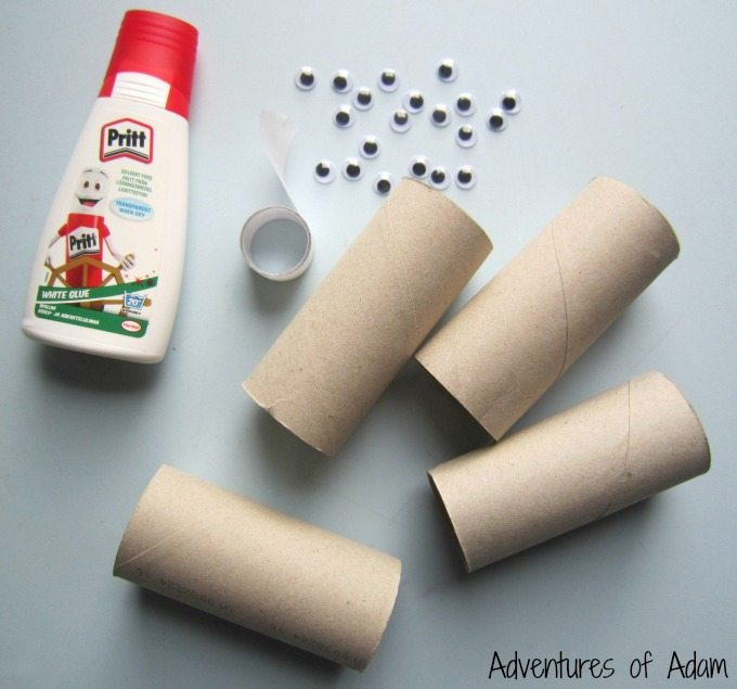 How to make cardboard mummies