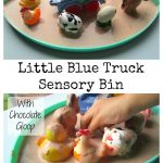 Little Blue Truck Sensory Bin