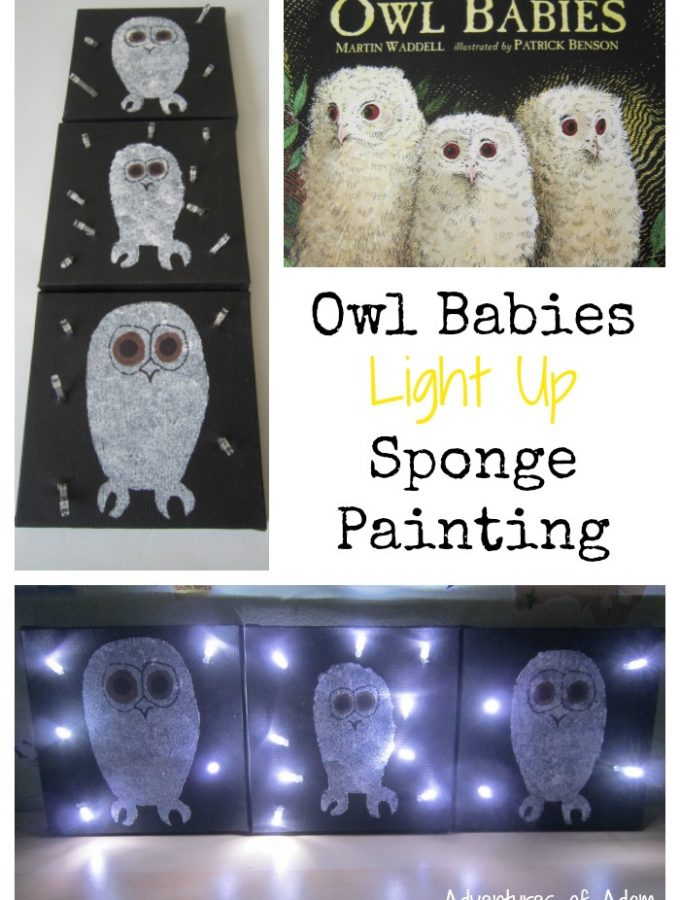 Owl Babies Light Up Sponge Painting