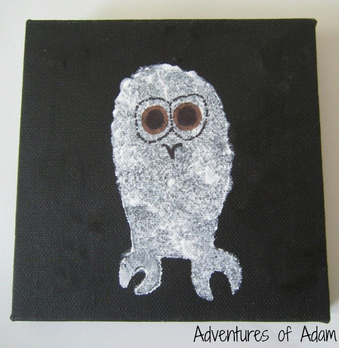 Owl Babies painting