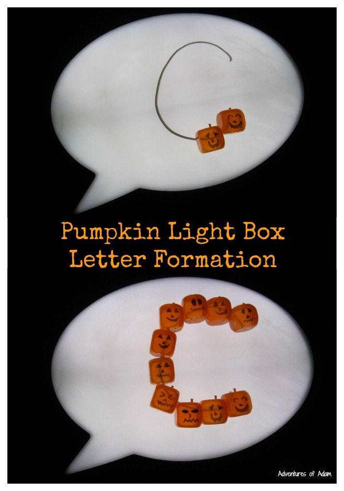 Pumpkin Light Box Letter Formation