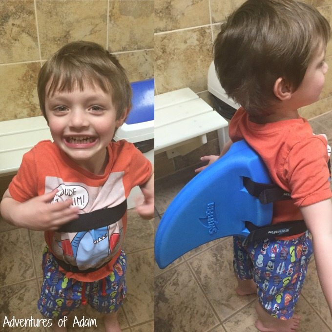 Putting on a SwimFin