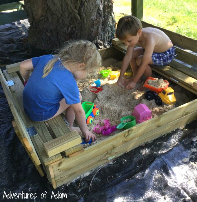 Sensory play in sand