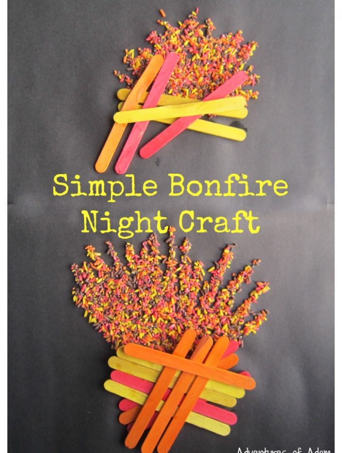 Simple Bonfire Night Craft