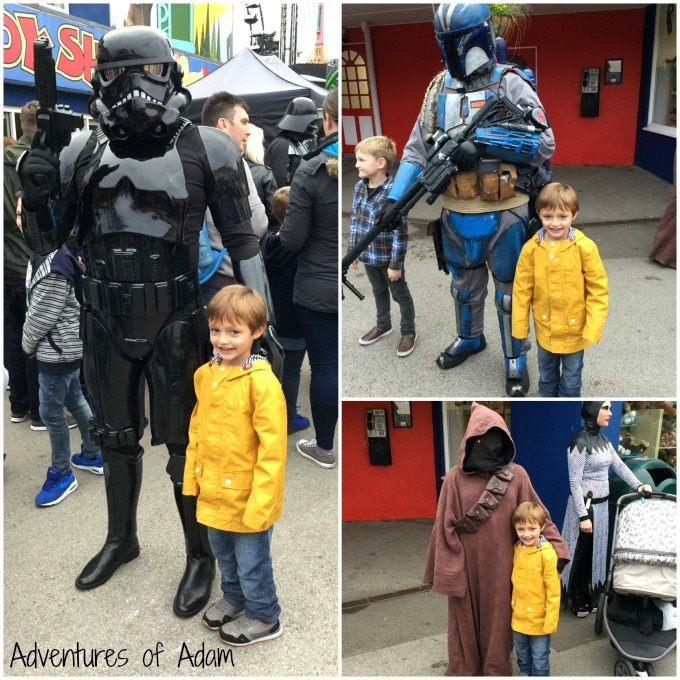 Star Wars characters at Drayton Manor