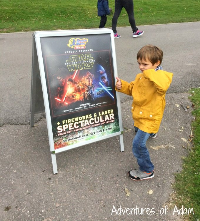 Star Wars film at Drayton Manor