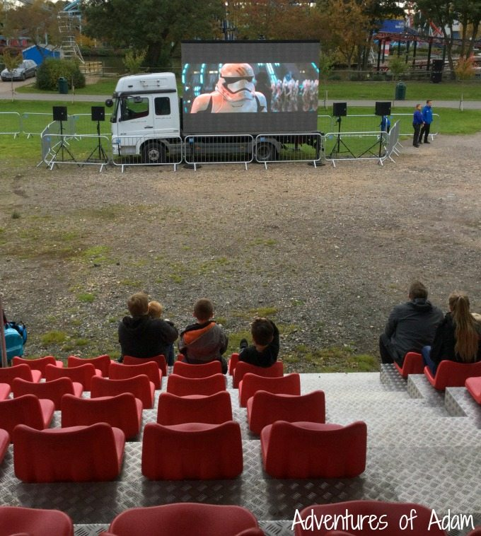 Star Wars outdoor cinema at Drayton Manor