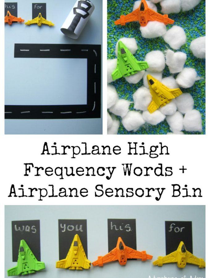 Airplane High Frequency Words
