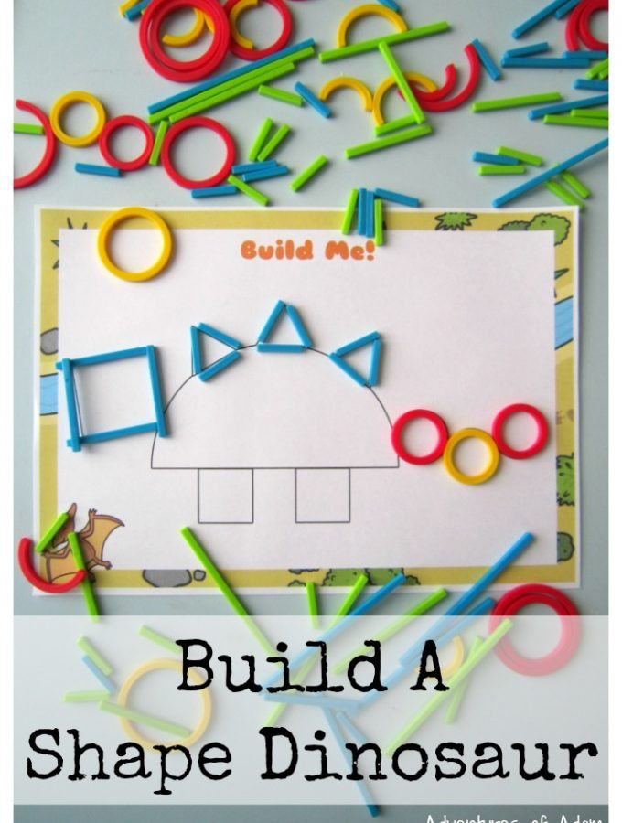 Build A Shape Dinosaur With Hape Rings & Sticks