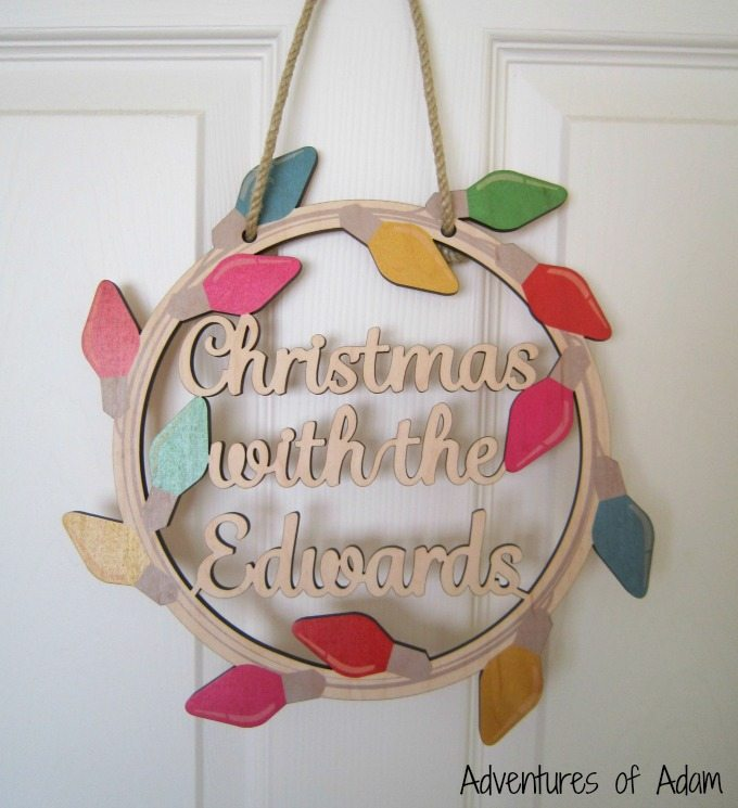 Family name Christmas decoration