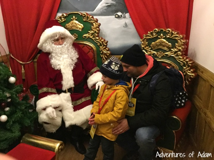 Meeting Father Christmas at Drayton Manor