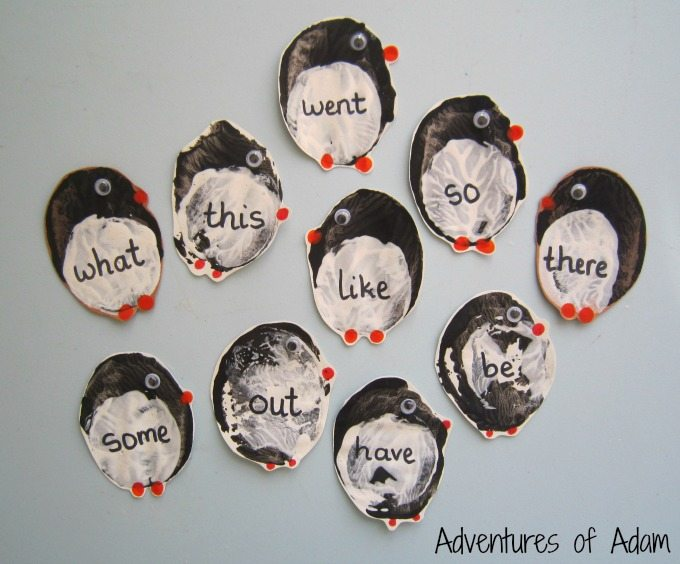 Penguin sight words