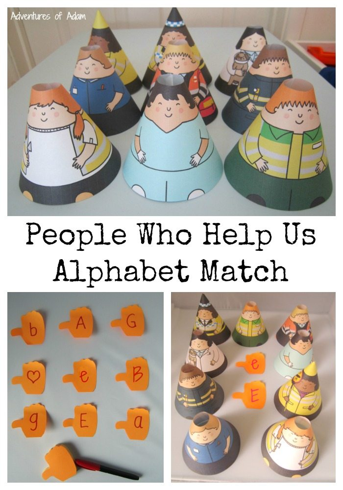 People Who Help Us Alphabet Match