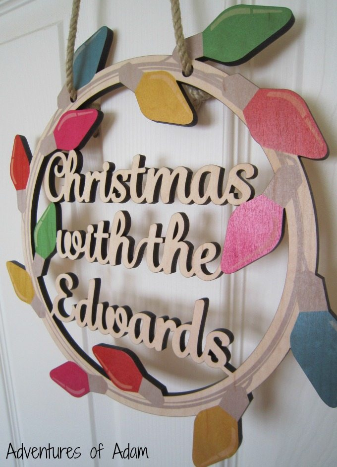 Personalised Christmas Wooden Wreath