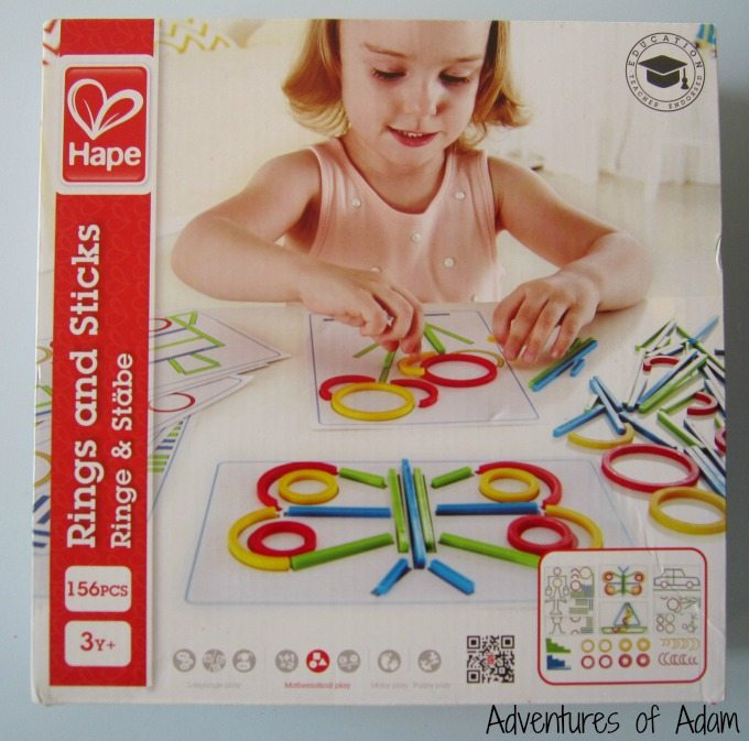 Ways to play with Hape Rings and Sticks
