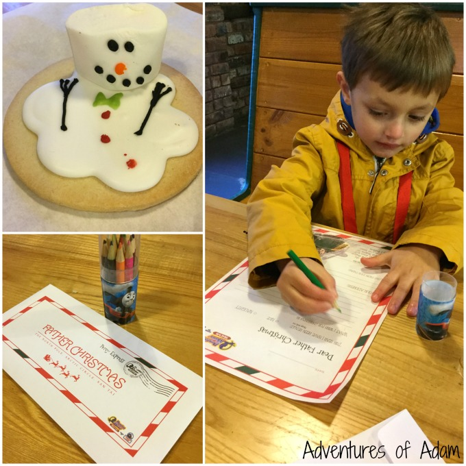 Writing letter to Father Christmas at Drayton Manor