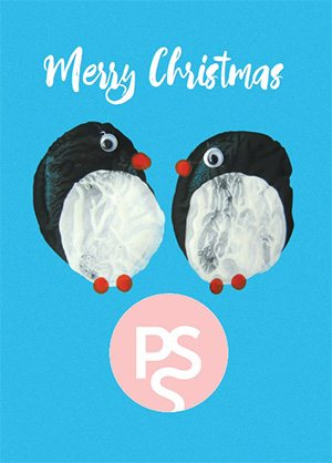 Penguin Christmas Card for Pregnancy Sickness Support charity