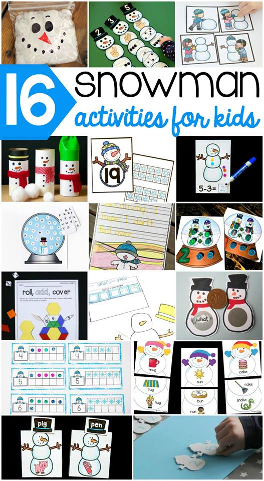 16 Snowman Activities for Kids