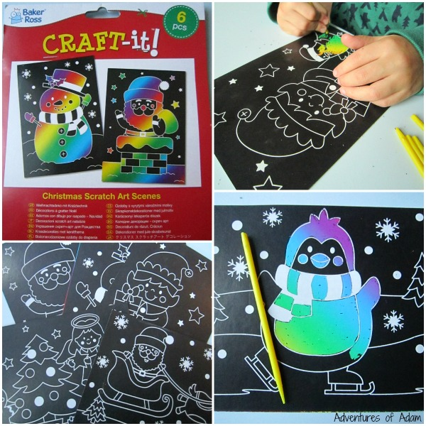 Baker Ross Christmas Scratch Art Scenes
